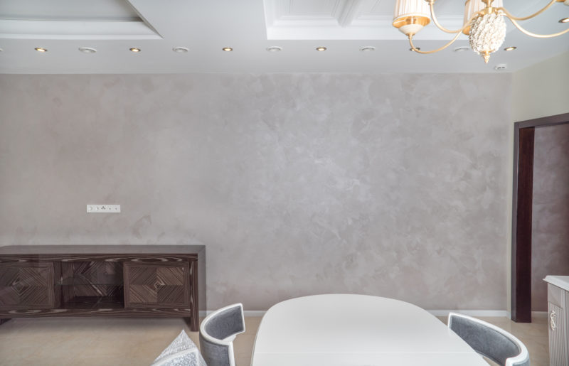 Декоративное покрытие песок в гостиной фото интерьера