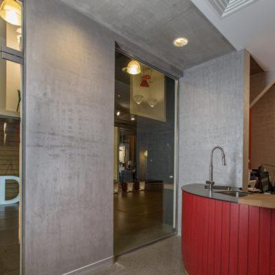 ART Beton в интерьере кухни фото