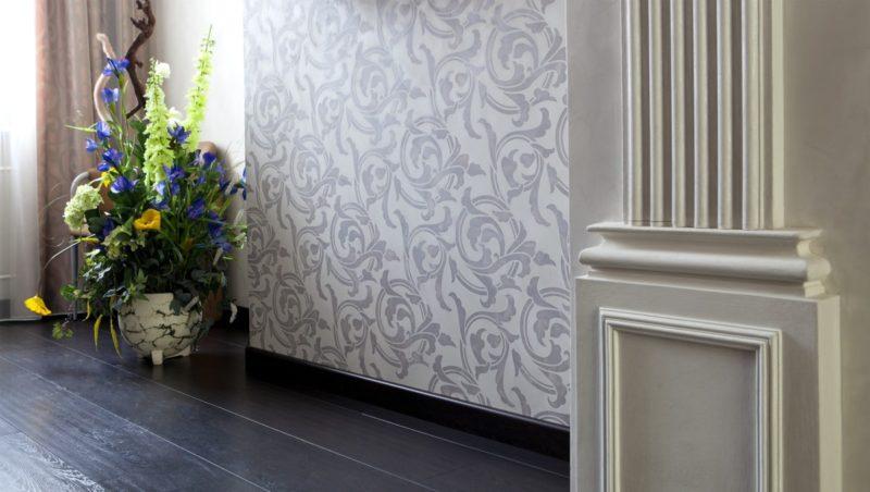 Трафаретная роспись стен фото интерьера