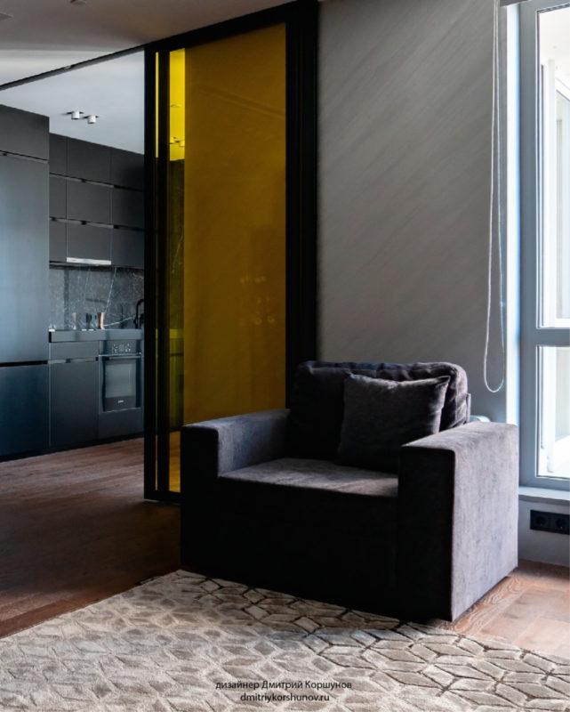 Штукатурка под металл в гостиной фото интерьера