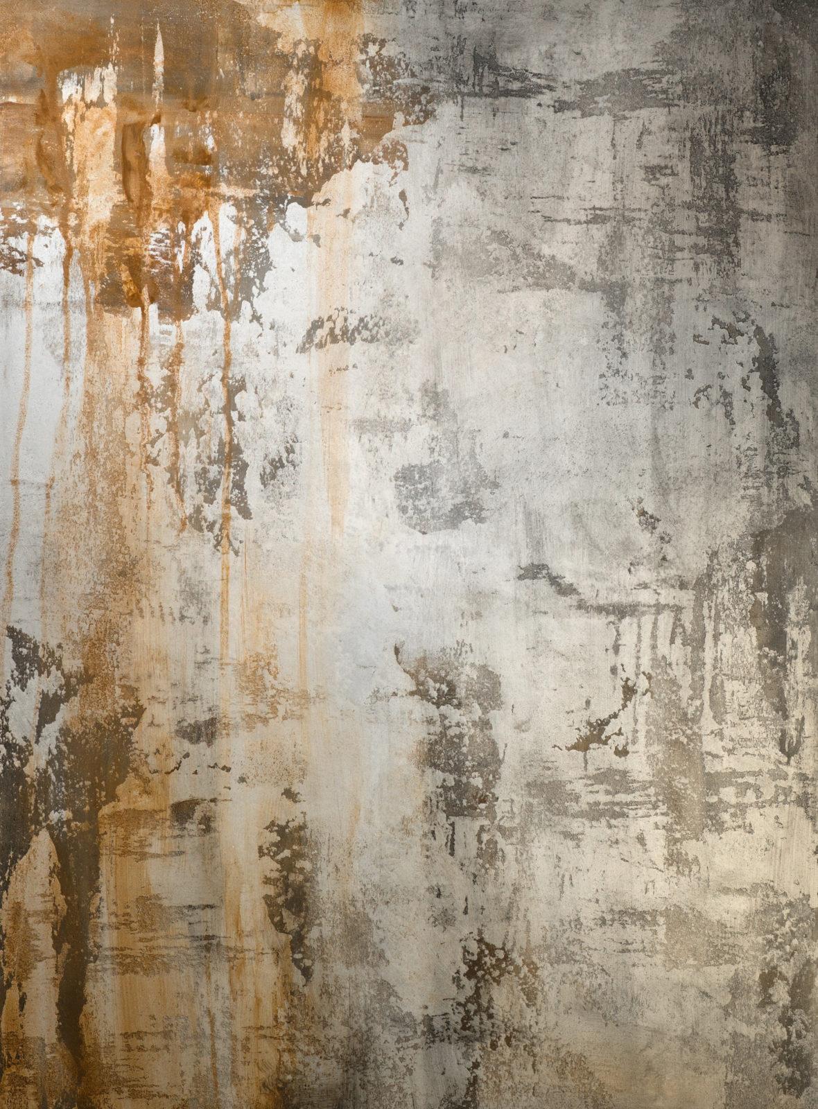 декор штукатурка Ржавые потеки на состаренном бетоне фото