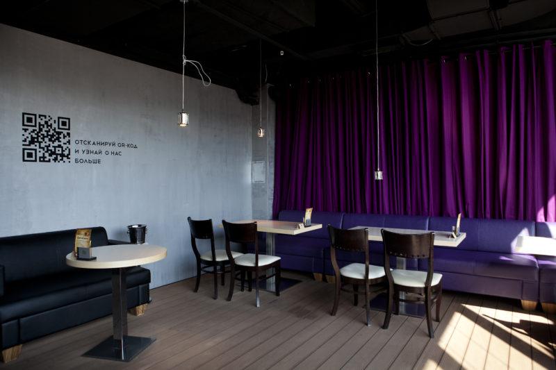 Штукатурка под бетон в сети городских ресторанов ЭТАЖ