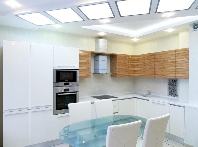 Белая штукатурка на кухне фото интерьера
