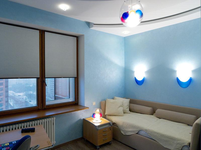 Шелковая декоративная краска в детской комнате