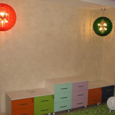 Декоративная штукатурка под желк в детской комнате фото интерьера