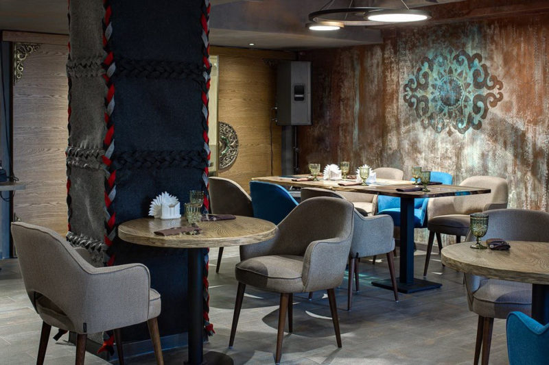 Фото декоративной отделки стен восточного ресторана