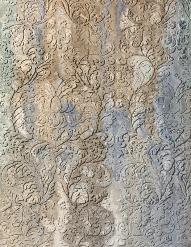 Фактурная штукатурка с трафаретом в стиле Винтаж